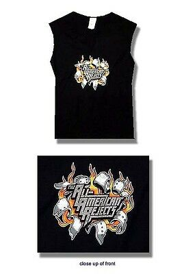All-American Rejects- NEW JUNIORS SLEEVELESS Burst Shirt-Small FREE SHIP TO U.S!