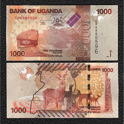 Uganda P-49e 2017 1000 Shillings - Crisp Uncirculated
