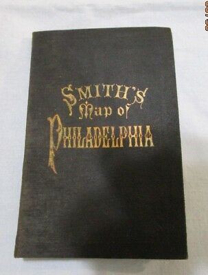 Smith's Map of Philadelphia, Folding Map within hard cover  1898