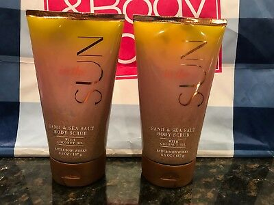 Bath & And Body Works In The Sun Sand & Sea Salt Body Scrub Lot Of 2 New