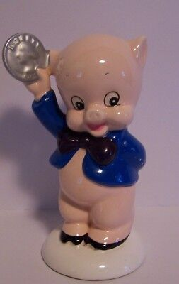Vintage Porky Pig Bank Warner Brothers Gorham Coin Quarter Japan Porcelain