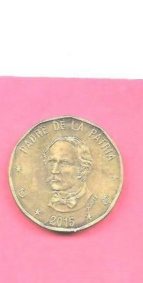 Dominican Republic Km80.2 2015 Unc-Uncirculated Mint Large Peso Coin