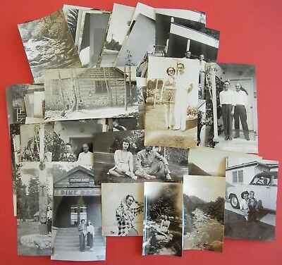 HUGE LOT of 100 Vintage SNAPSHOTS Photos OLD PHOTOGRAPHS 1920s-1930s-1940s + + +