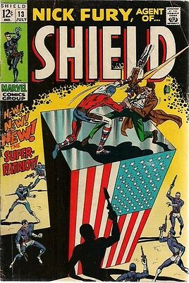 NICK FURY, AGENT OF SHIELD #13 (1969) Marvel Comics VG+