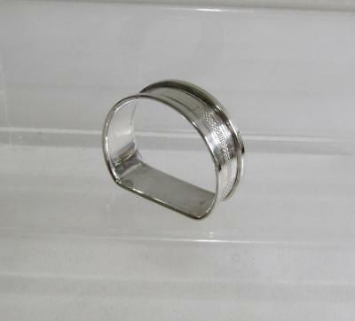 Vintage Hallmarked Solid Silver Napkin Ring - 1973, Henry Griffiths & Sons