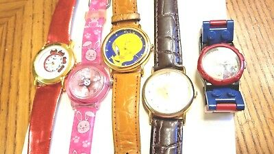 Lot of 5  --- Vintage Character Watches