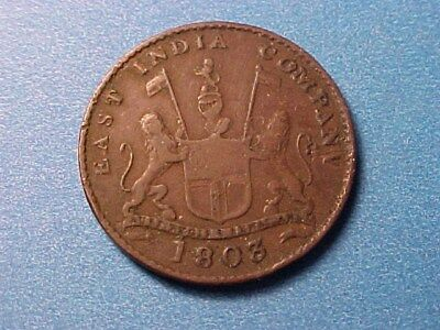 East India Company 5 Cash 1803 Nice