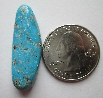 24.90 ct. 100% Natural Persian Turquoise Cabochon Gemstone with Pyrite # EL 066