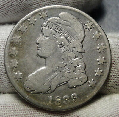 1833 Capped Bust Half Dollar 50 Cents - Nice Coin.. Free Shipping  (6950)