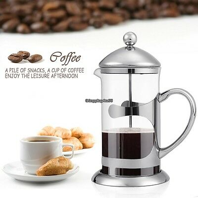 French Moka Espresso Percolator Coffee Maker Stainless Steel 1000ML 2pcs Filter