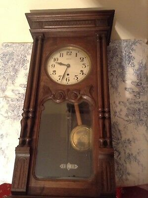 ANTIQUE FRENCH 1930's VEDETTE 8 RODS & HAMMERS WESTMINSTER CHIME CLOCK (2284)