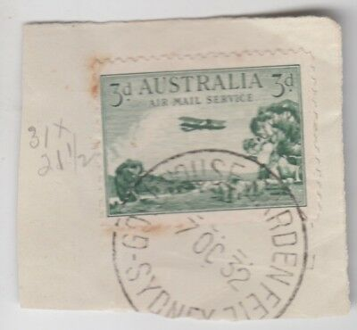 Postmark 1932 Government House Garden Fete Sydney NSW on 3d stamp piece scarce
