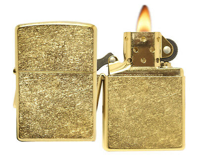Zippo Lighter 207G Gold Dust Windproof Classic NEW