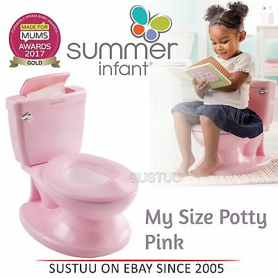 Summer Infant My Size Potty│Baby Kid's Toilet Trainer Seat│Flip Up Chair│Pink│