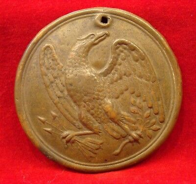 Us Eagle Breastplate For Cartridge Box Sling With Field Repair. Civil War.