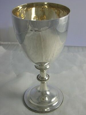 Daniel and Charles Houle Heavy 1878 Victorian Silver Large Goblet 429 grams