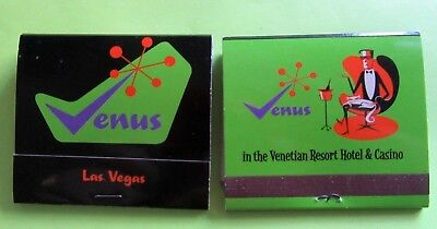 2 RARE Shag Matchbooks Josh Agle Venus Room Venetian Casino Las Vegas UNUSED