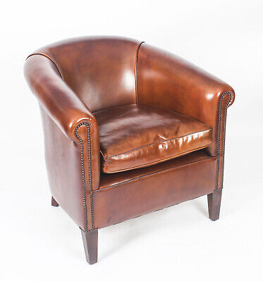 Bespoke English Handmade Amsterdam  Leather Arm Chair bruciato