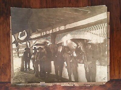 Indian Fair Crow Reservation Montana 1912 Photo by Richard Throssel Signed