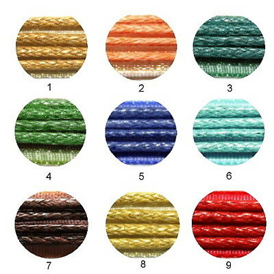 """Satin Ribbon Necklace Cords 18"""" 4 Strings Lobster Claw Hook & Chain Cord 50 Pcs"""