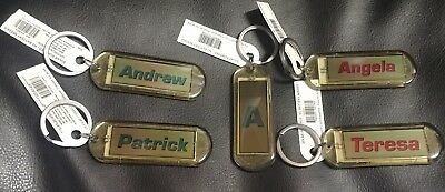 """Solar Powered Acrylic Blinking Personalized Key Chain 2.6"""" With Ring"""