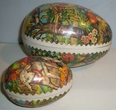 German Candy Containers Paper Mache Easter Eggs West Germany Vintage Old Style
