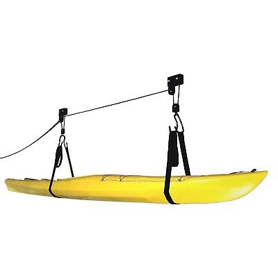 Kayak Hoist Lift Garage Storage Canoe Hoists 125 lb Capacity Lifetime Warranty