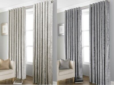 RING TOP EYELET Thermal Blackout PAIR Curtains Ready Made Lined