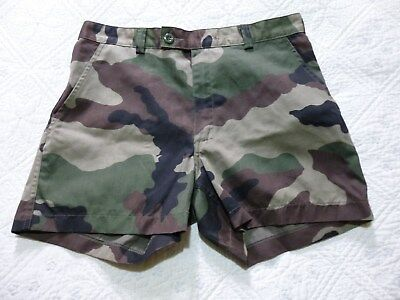SHORT NEUF ARMEE FRANCAISE LEGION CAMOUFLAGE CENTRE EUROPE TAILLE 80 (40 civil)