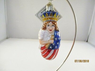Old World Miss Liberty Ornament