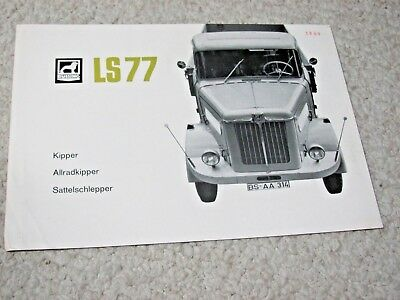 1960 BUSSING LS77 (GERMANY) SALES BROCHURE....rare