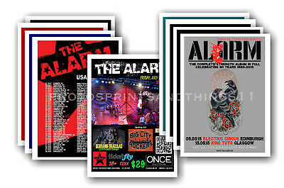 THE ALARM - 10 promotional posters  collectable postcard set # 2