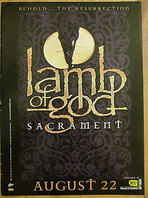 Lamb of God, Sacrament, Full Page Promotional Ad
