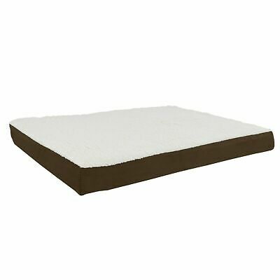 Orthopedic Dog Bed Memory Foam Cozy Sherpa 36 x 27 x 4 Washable Cover Large