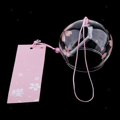 Japanese Style Glass Windchime Blessing Bells Room Hanging Furin Wind Chime