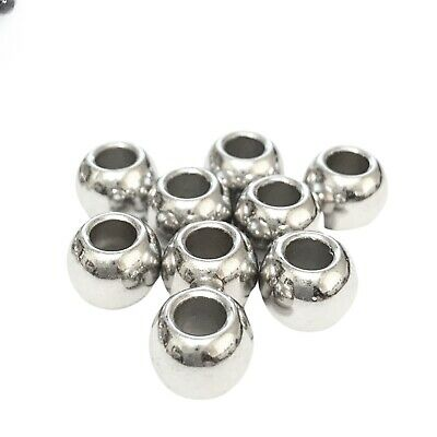 40 x CCB Plastic Gold Spacer Beads Large Hole 14X10mm Square Kumihimo NP37