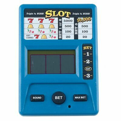 Electronic Handheld Casino Slot Machine Game Triple 7s Battery Operated 1 AAA