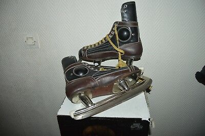 Patin A Glace Hockey Gold Cup Cuir   Ice Skate Taille 41   Vintage  27