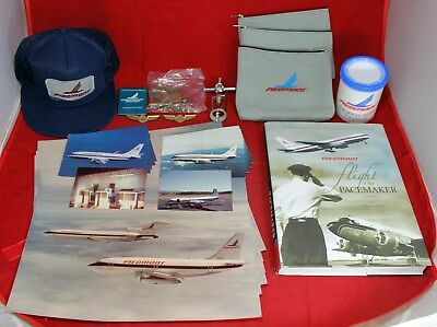 Piedmont Airlines Vintage Lot - Wine Opener - Wings - Hat - Pictures - Postcards