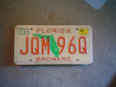 Florida Broward Co Red      License Plate    Buy All States Here