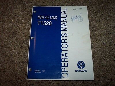 2009 NEW HOLLAND T1510 T1520 Tractor Service Manual Dn89