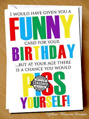 Funny Rude Birthday Card Sister Mum Friend Greeting Gift 30th 40th