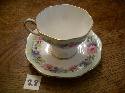 "Gorgeous Foley ""cornflower"" Tea Cup And Saucer Set"