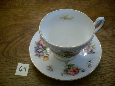 Royal Dover April Sweet Pea China Cup And Saucer Set