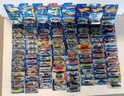 Hotwheels Giant Lot of 100 Die-Cast Vehicles New in Original Packaging Mattel