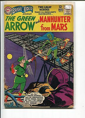 BRAVE and BOLD 50 VG- 1st TEAM-UP  GREEN ARROW MARTIAN MANHUNTER  1963