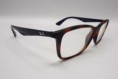 8964e078aa RAY BAN RB 7047 5574 Tortoise Brown Blue Rx Eyeglasses Frames 54  17 ...