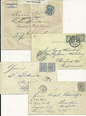 Netherlands  4 Different Covers  1879-1915