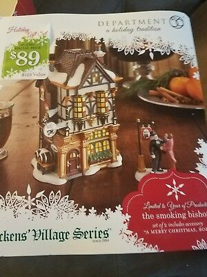 Dept. 56 The Smoking Bishop with A Merry Christmas Bob New Dickens Village 2011