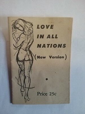 Scarce Vintage Risque Love in All Nations Cartoon Fold Out booklet Draft Kinsey